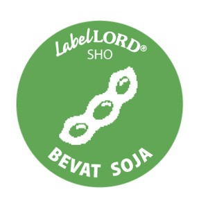 Label Allergeen -soja-